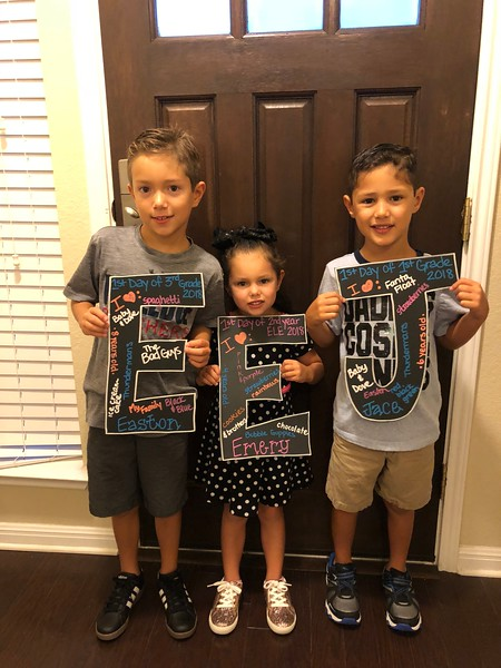 Easton, Jace and Emery | 3rd, 1st and ELE | Rutledge Elementary School