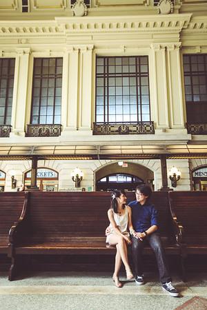 Tina and John, 2014, Hoboken Train Station, New Jersey
