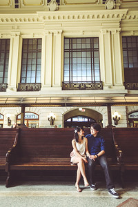 Tina and John, 2014, Hoboken Train Station, New Jersey