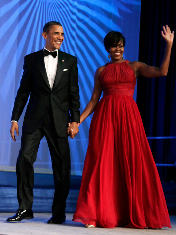 . President Barack Obama and first lady Michelle Obama arrive at the Congressional Black Caucus Foundation Inc.�s Annual Legislative Conference Phoenix Awards Dinner at the Washington Convention Center, Saturday, Sept. 18, 2010, in Washington. (AP Photo/Carolyn Kaster)