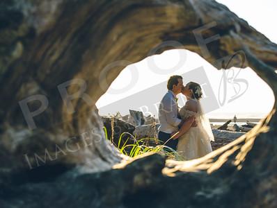 Elizabeth and Jeffrey Wedding at Ruby Beach