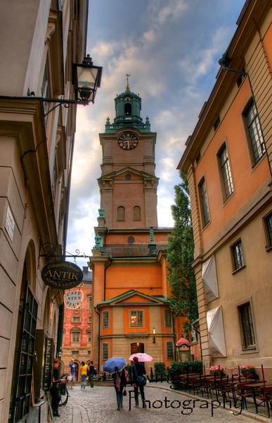 Stockholm - Gamla Stan, light rain falling