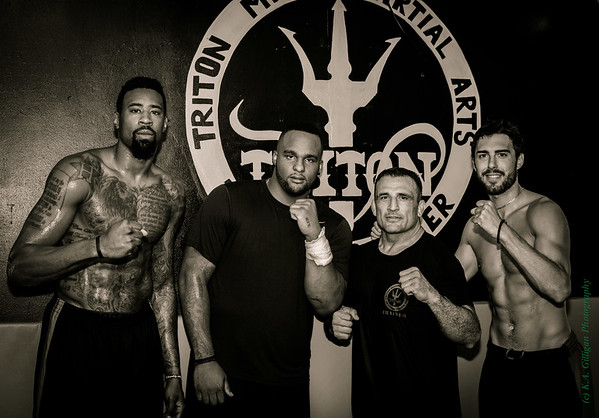 NBA players (Lakers and Clippers) after training with John Marsh at Triton MMA.