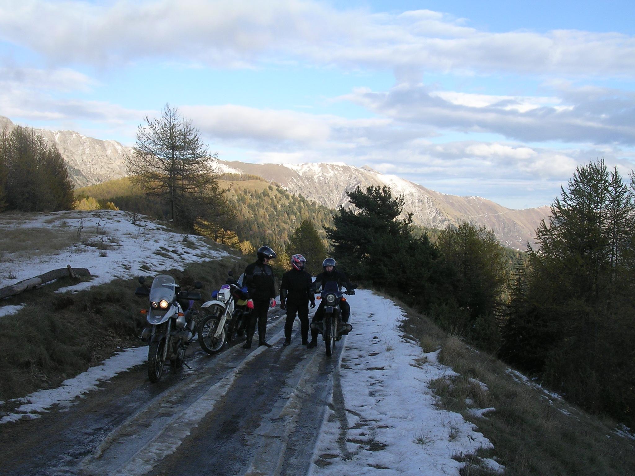 Sneeuw en ijs in de buurt van Baisse di Sanson