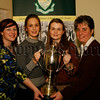 The Gilmore Trophy, Clare Jones & Nichola Mc Elroy with Dearbhail Mc Donald (guest speaker) and St Julie Mc Goldrick (principal), 06W51N71