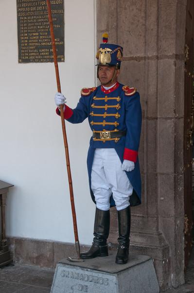 Presidential guard - Quito, Ecuador