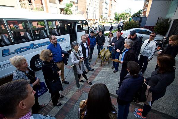 Bus tour of ministries