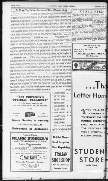 Southern California Trojan, Vol. 10, No. 12, July 30, 1931