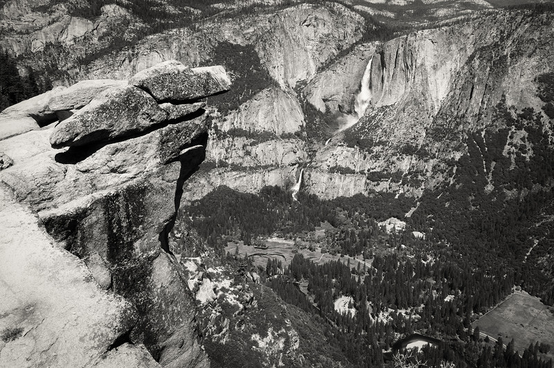 Yosemite Falls from the Glacier Point in Yosemite National Park