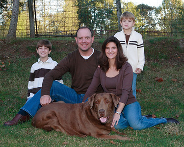 Walker Family Portrait with Dexter