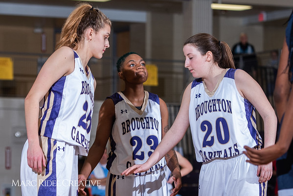 Broughton girls varsity basketball vs Millbrook. February 15, 2019. 750_7349