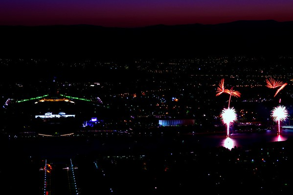 Sky fire Canberra