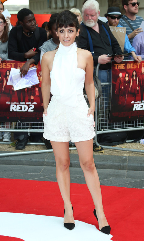 . Katie Melua arrives on the red carpet for the European Premiere of Red 2, at a central London cinema, Monday, July 22, 2013.  (Photo by Joel Ryan/Invision/AP)