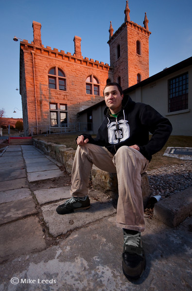 Will Parham at the Old Idaho State Pen on a February evening.