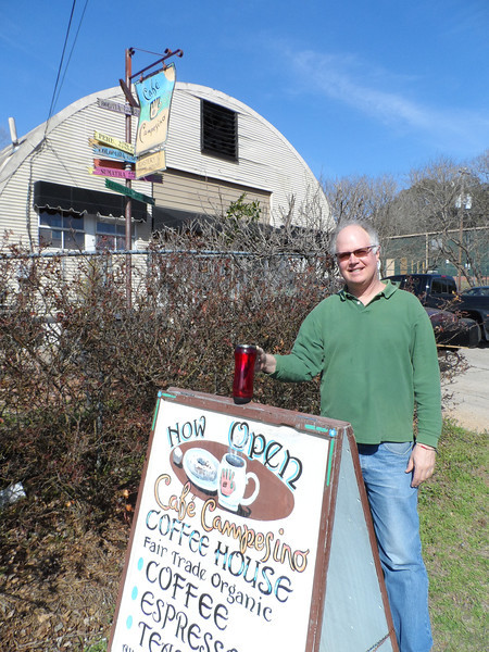 Bill Harris, co-founder of Cafe Campesino, on Spring Street, Feb. 25, 2014.