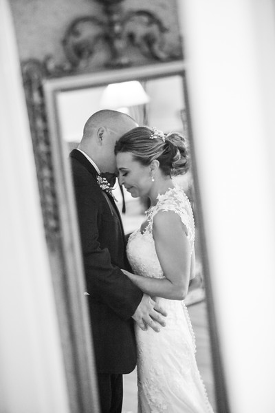 Justin and Tiffany Bass' First Look Portraits, The Grand Magnolia House