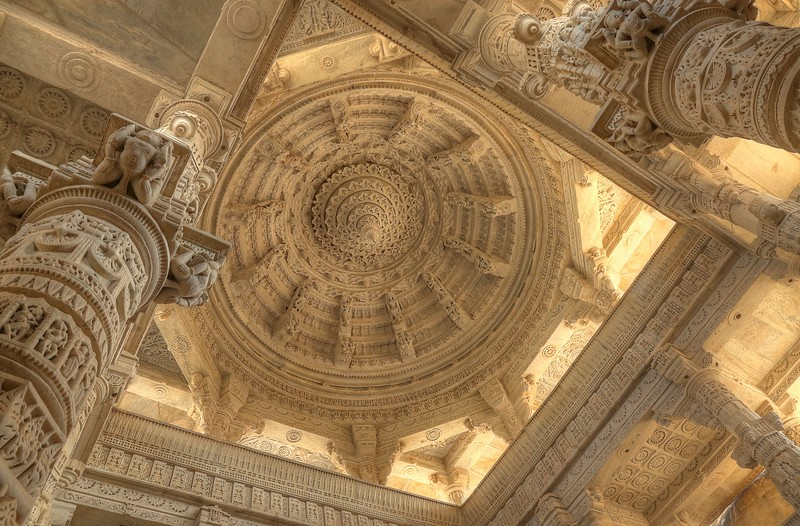This breathtaking temple quickly became one of my favorite sights of all! - Ranakpur Jain Temple