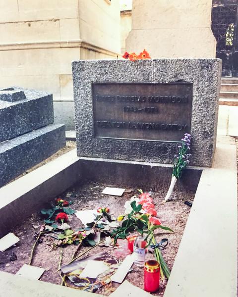 Jim Morrison's Grave Paris, France  c,July 1997