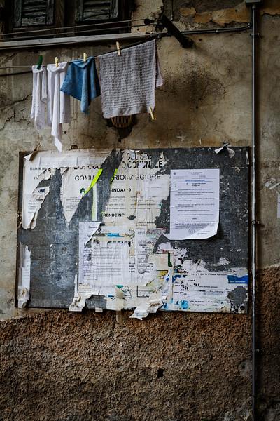 Noticeboard Riomaggiore
