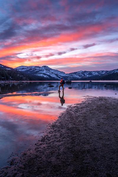 Sunset at Donner Lake