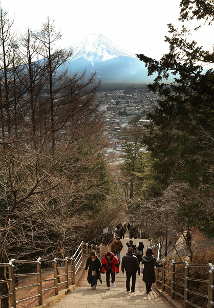 That's 398 steps up the side of the mountain.