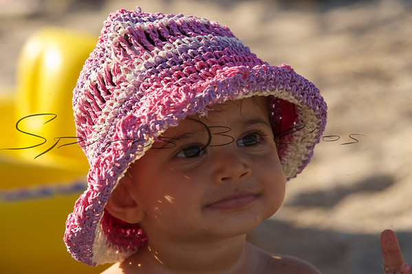 Baby girl on the beach...