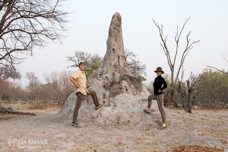 This termite mound took years and years to create. They are truly remarkable builders!