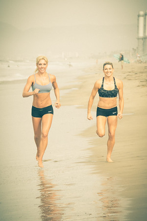 """The ladies of """"Fierce Lotus."""" I photographed these fitness guru's for their upcoming book.  Lisa (L) is an executive with a restaurant chain, and Heidi (r) is a famous stunt - woman who has been a stunt double in many major Hollywood blockbusters."""