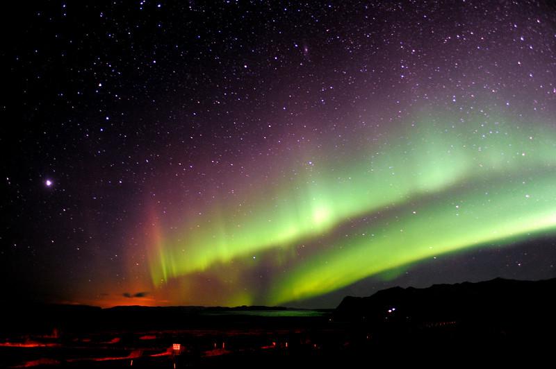 ..Spectacular northern lights display.