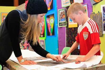 Fifth Grade Art Class