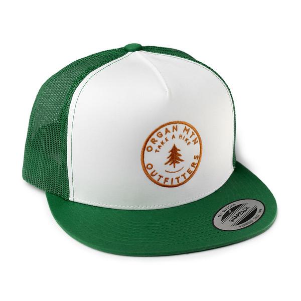 Outdoor Apparel - Organ Mountain Outfitters - Hat - Take A Hike Trucker Cap - Green White Orange.jpg