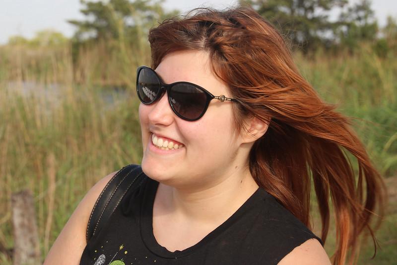 Danielle enjoying the breeze