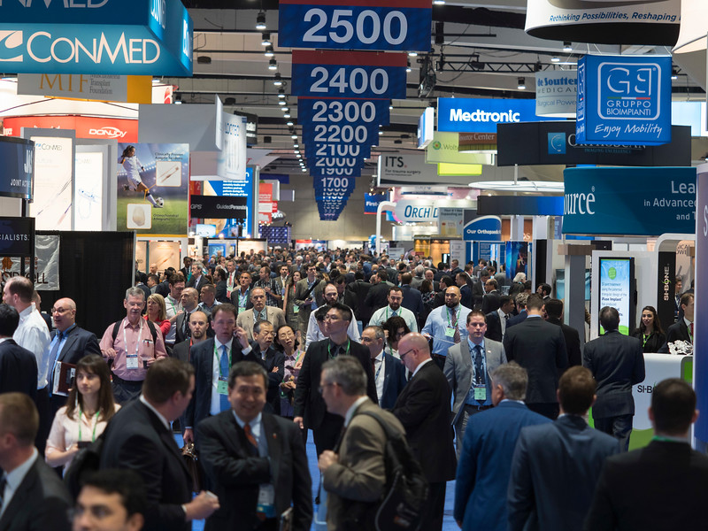 Attendees in the exhibit hall during \111a\