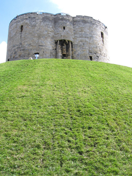 Clifford's Tower, York, constructed for the Conqueror in 1068.