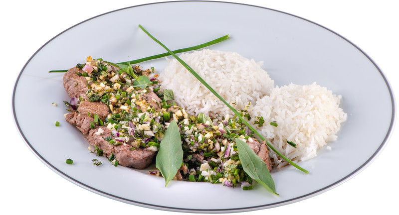 Steak mit japanischem Gemüse (Koro Koro Steak Tataki fu)
