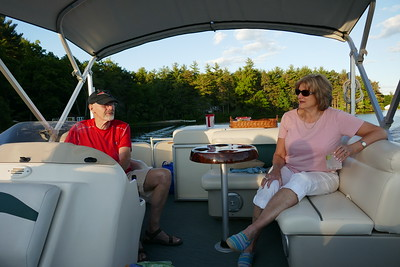 Cruise with Bud and Pam on Heart Pond
