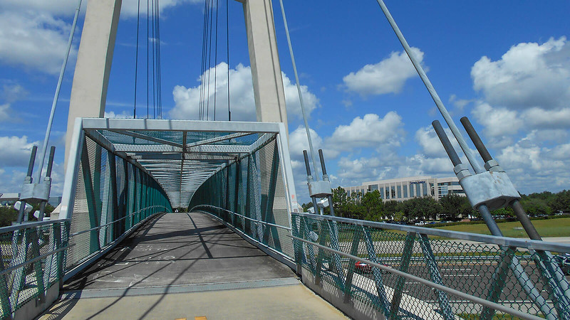 Bike/ped bridge over Interstate 4