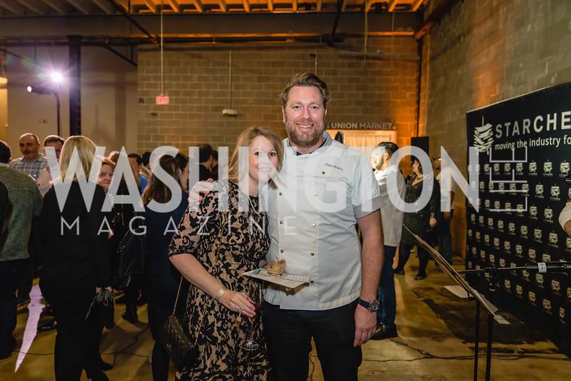 Lisa Adams, Drew Adams. 2018 StarChefs Tasting Gala & Awards Ceremony. December 11, 2018. Elyse Cosgrove Photography.ARW