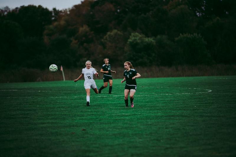 Holy Family Girls Varsity Soccer vs. Glencoe-Silver Lake, 9/24/19: Brenna Jones '20 (5)