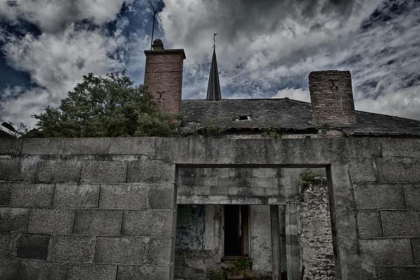 Jardins et terrasse  - Ruine à bascule à Assé le Béranger