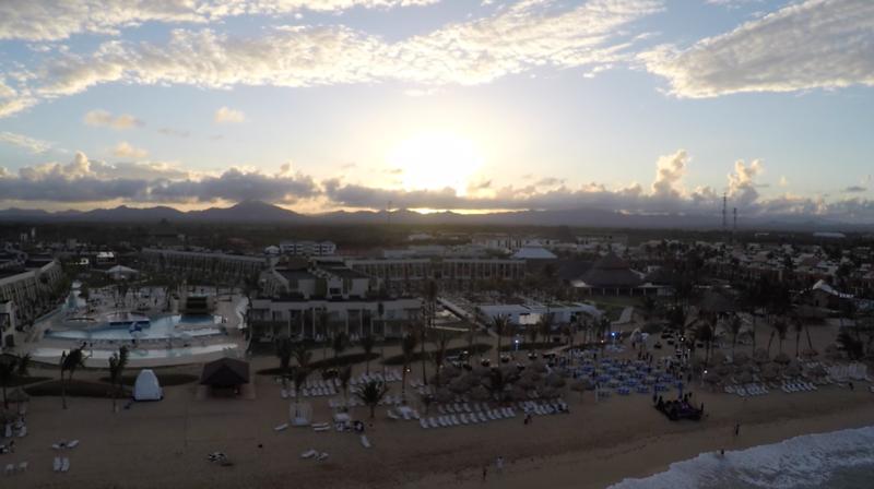 Sunset over Punta Caña