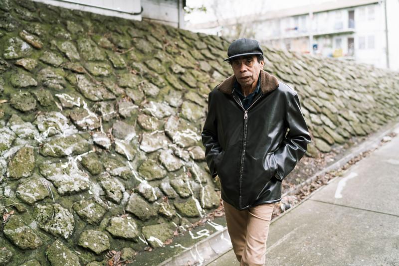 Aboriginal Man Walking in an Urban Environment
