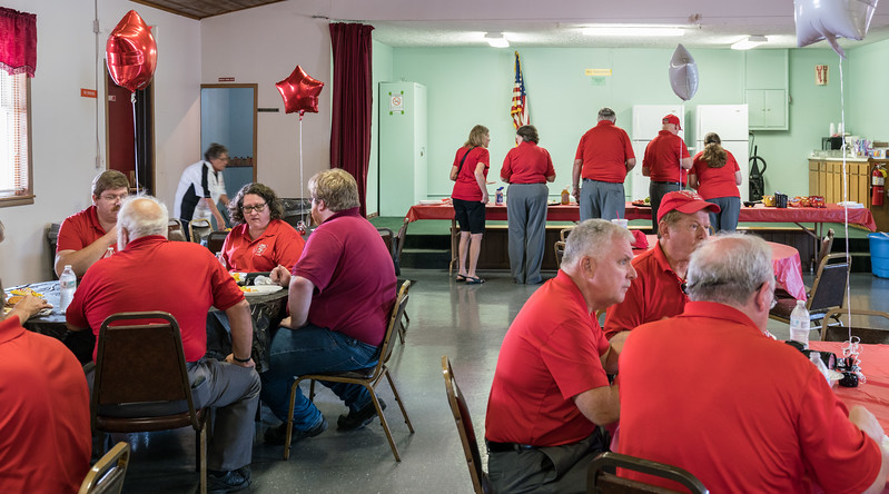 The VFW arranged for a tasty lunch, presented by the First Freewill Baptist Church