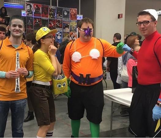 Wizard World Comic Con - Cleveland, OH  March 18, 2017  Squidward, Spongebob, Mermaid Boy and Barnacle Boy