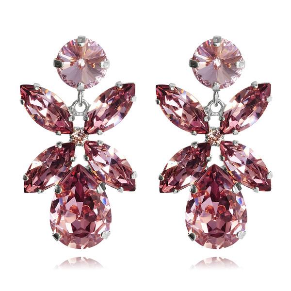 Dione Earrings / Light Amethyst / Rhodium
