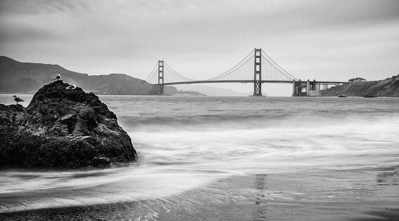 Golden Gate Bridge from China Beach