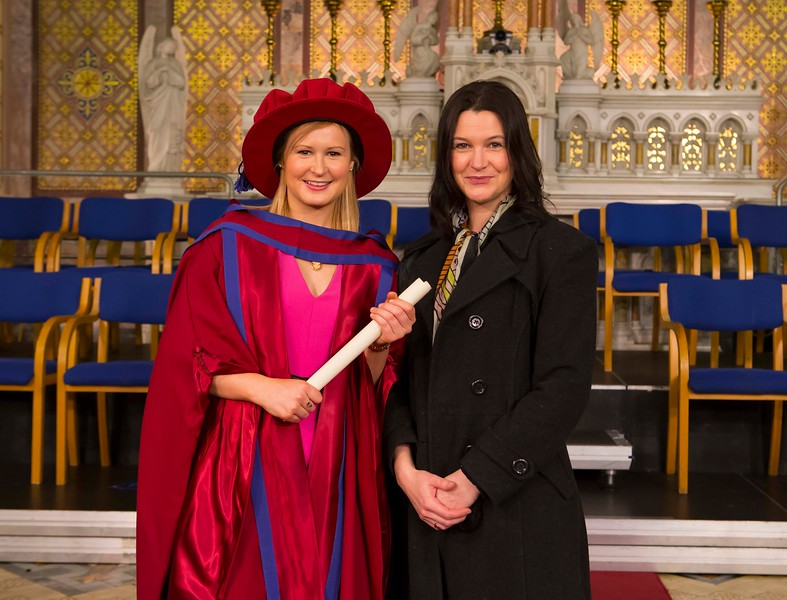 Waterford Institute Of Technology Conferring. Pictured at WIT Waterford Institute Of Technology Conferring is Jill O'Mahoney, Waterford, who was conferred a Doctor of Philosophy. Also pictured is Susan O'Mahoney. Picture: Patrick Browne