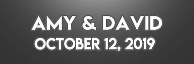 Amy & David 10.12.19