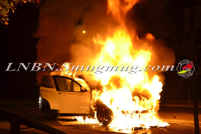 Wantagh F.D. Car Fire E/B Sunrise Highway C/S  Brookside Avenue 11-5-13