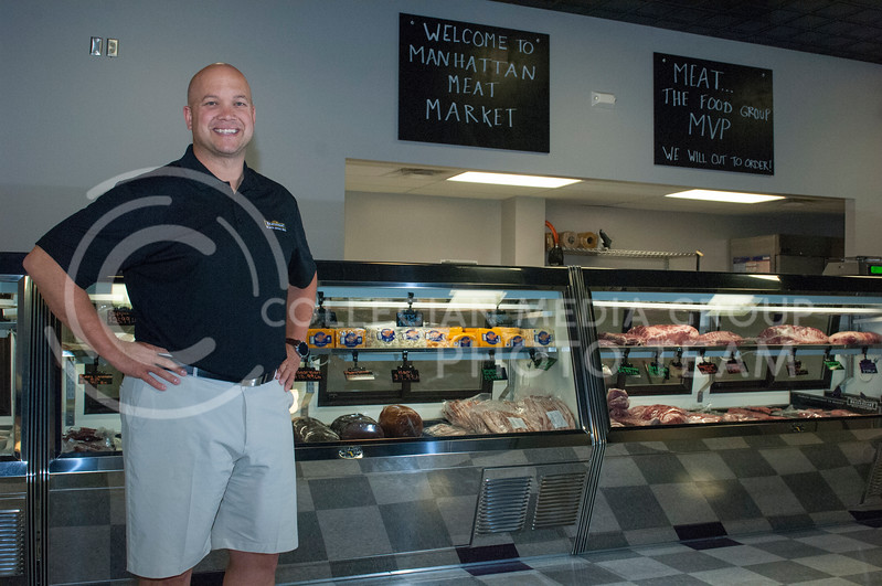 Jake Worcester,a co-owner of the Manhattan Meat Market, in Manhattan, Kan. on June 23, 2017. The Manhattan Meat Market is a local specialty meats and artisan butcher shop. (Justin Wright   The Collegian)